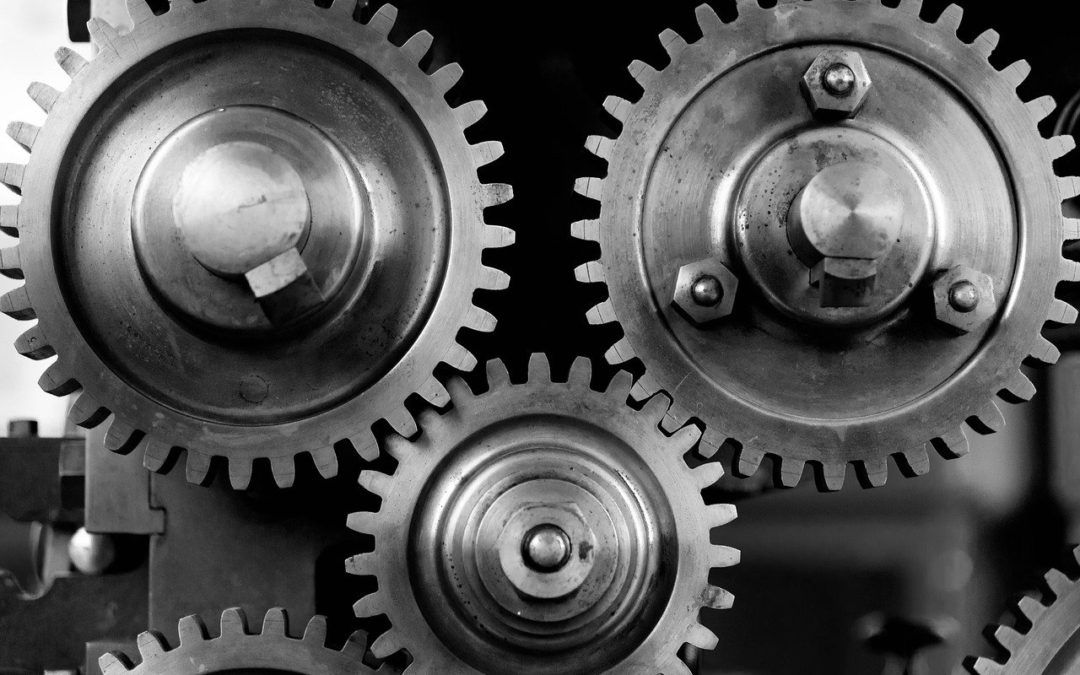 close-up, cogs, gears